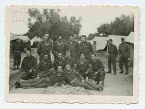At the First Sappers Battalion camp