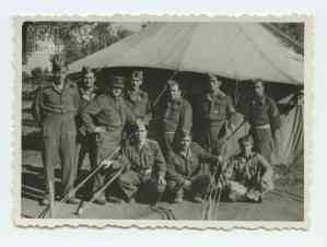 1st Company commander Mitsou Dim. with troops from Roumeli, northern Greece