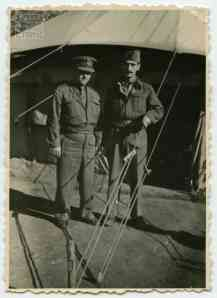 1st Company commander Dim. Mitsou with the staff sergeant Haramoglis Telis at Liopesi