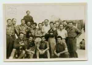 "Detainees for various ""political crimes"" at the Athens Military Prison (Vouliagmenis Street)"