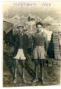 Ο Πάνος Κερκουλάς στο Μακρονήσι το 1949