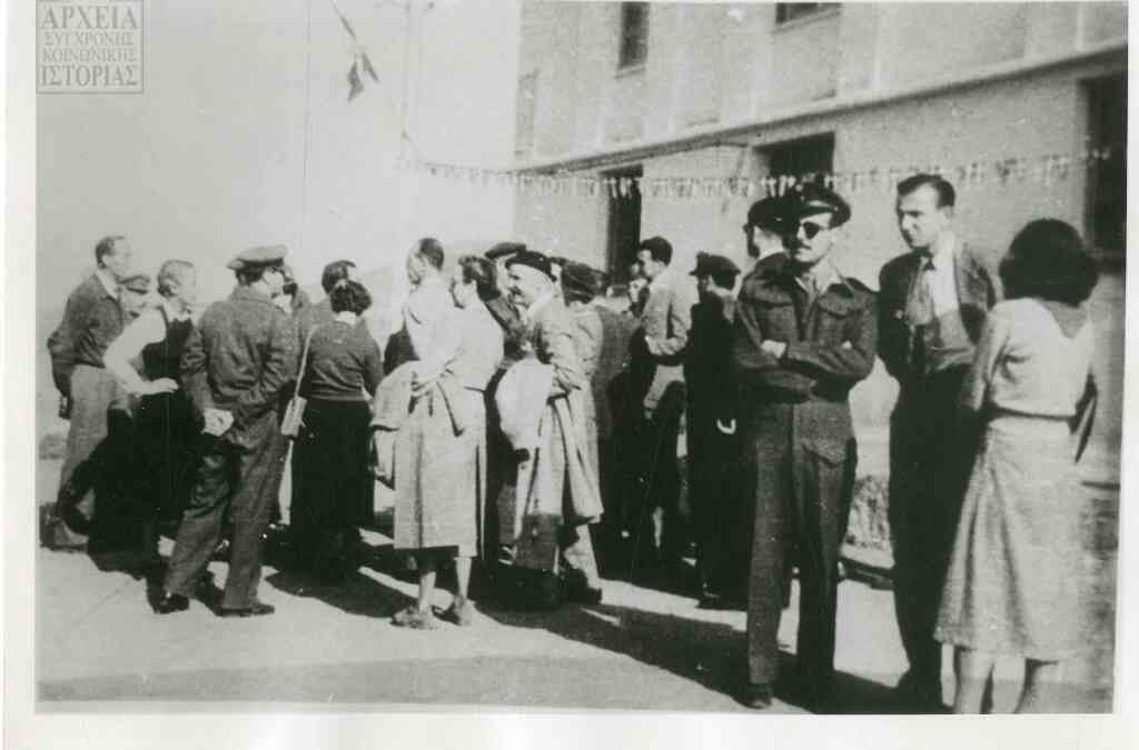 Foreign journalists at Makronissos