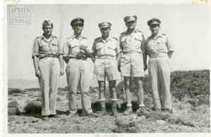The commanding officers of the Second Battalion's 5th Company