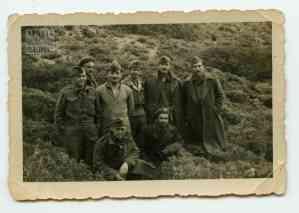 Στρατιώτες του Α' Τάγματος κατά την επίσκεψη των βασιλέων