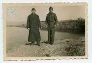 Second Lieutenant Vangelis Maleas with soldier Mylonas Yiannis