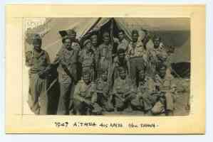 At the 4th Company, First Battalion, tent 16