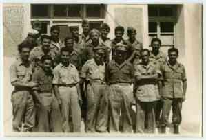 Προσωπικό της διαχείρισης του Γ' Τάγματος Σκαπανέων