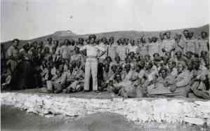 Στρατιώτες στο Γ΄ Κέντρο Παρουσιάσεως Αξιωματικών το 1948