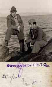 Ο Στέλιος Ρούσογλου με συνάδελφό του στον 2ο Λόχο
